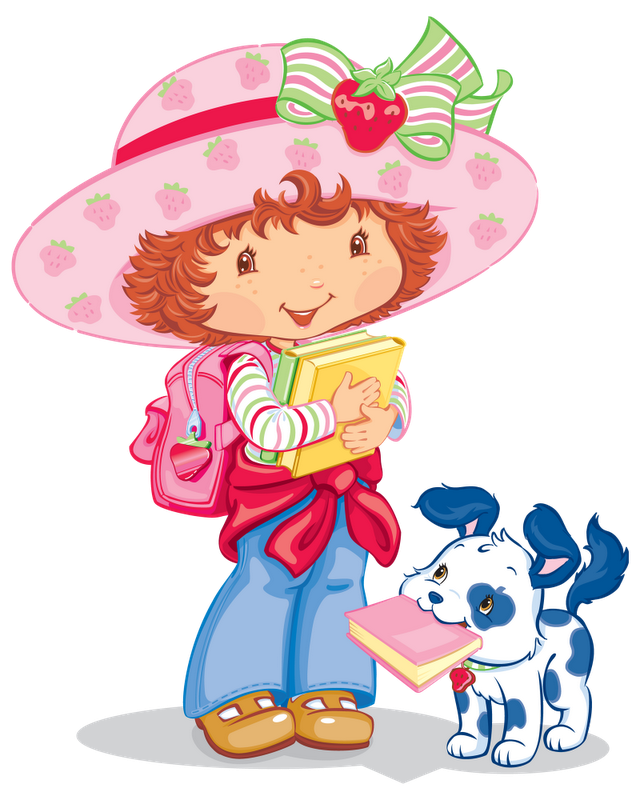 Strawberry shortcake cartoon characters. Strawberries clipart character