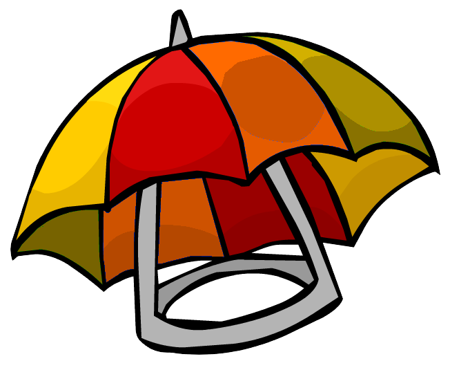 Summer umbrella club penguin. Clipart penquin hat clipart
