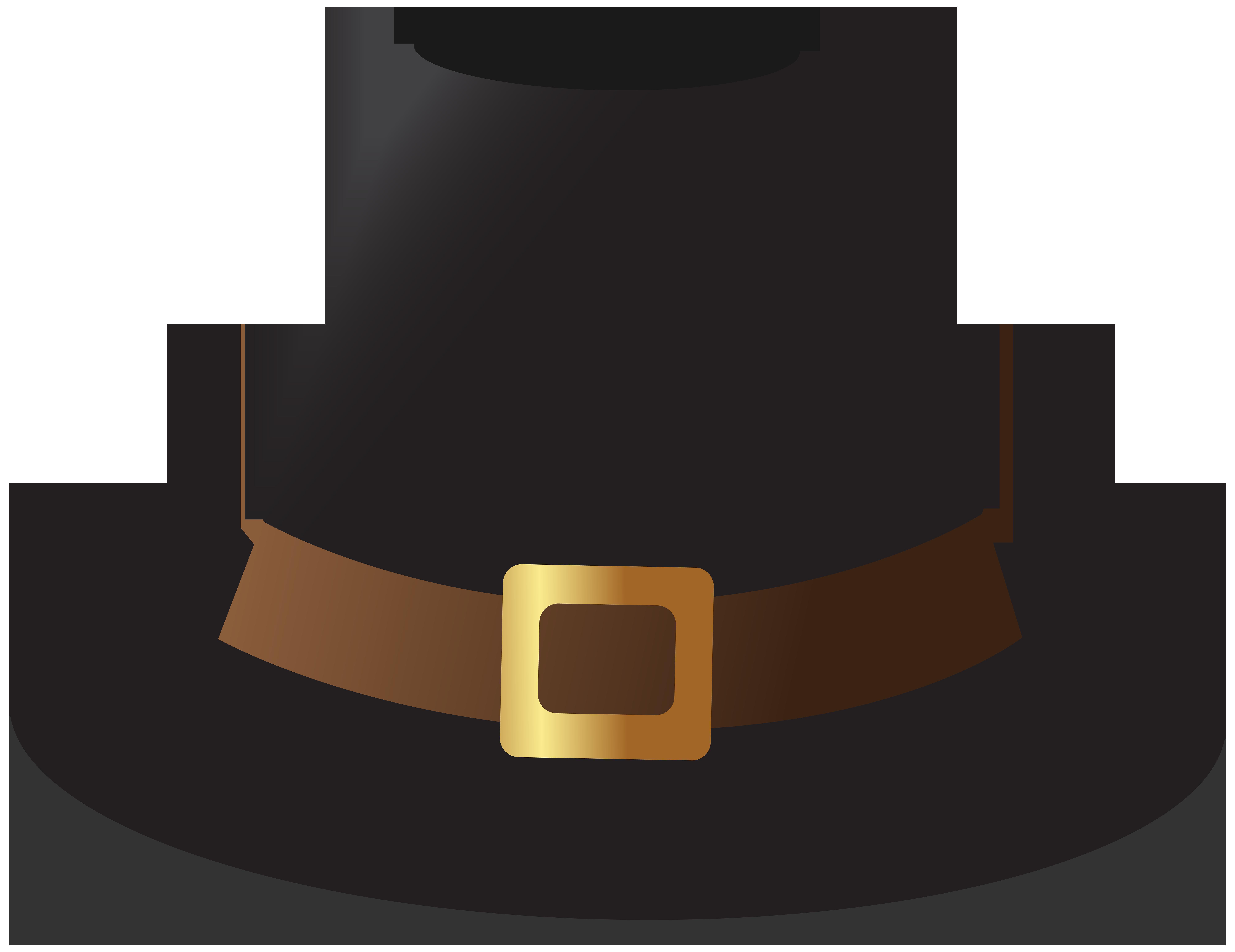 Black transparent png image. Pilgrim clipart pilgrim hat