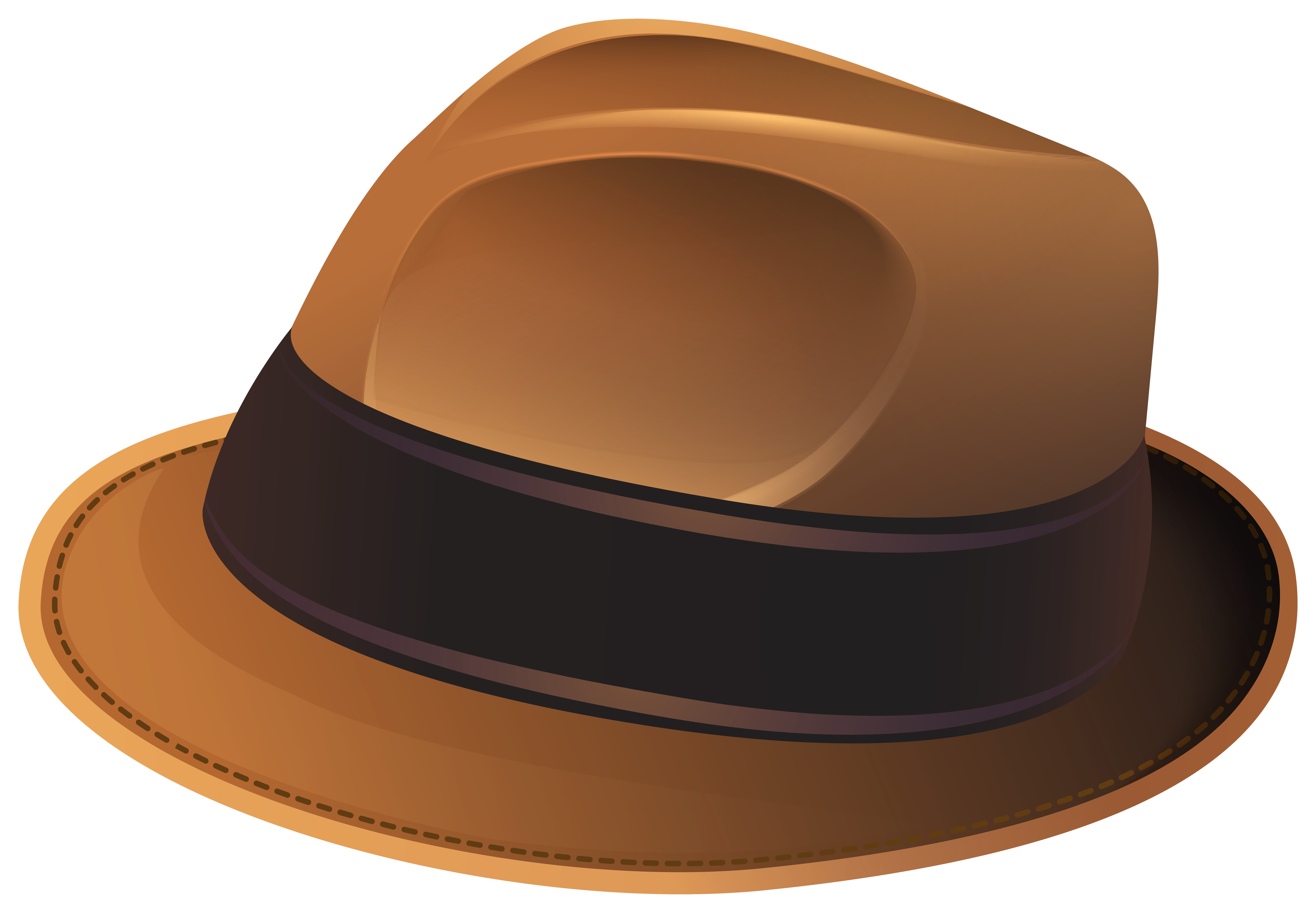 Clipart hat transparent background. Brown png clip art
