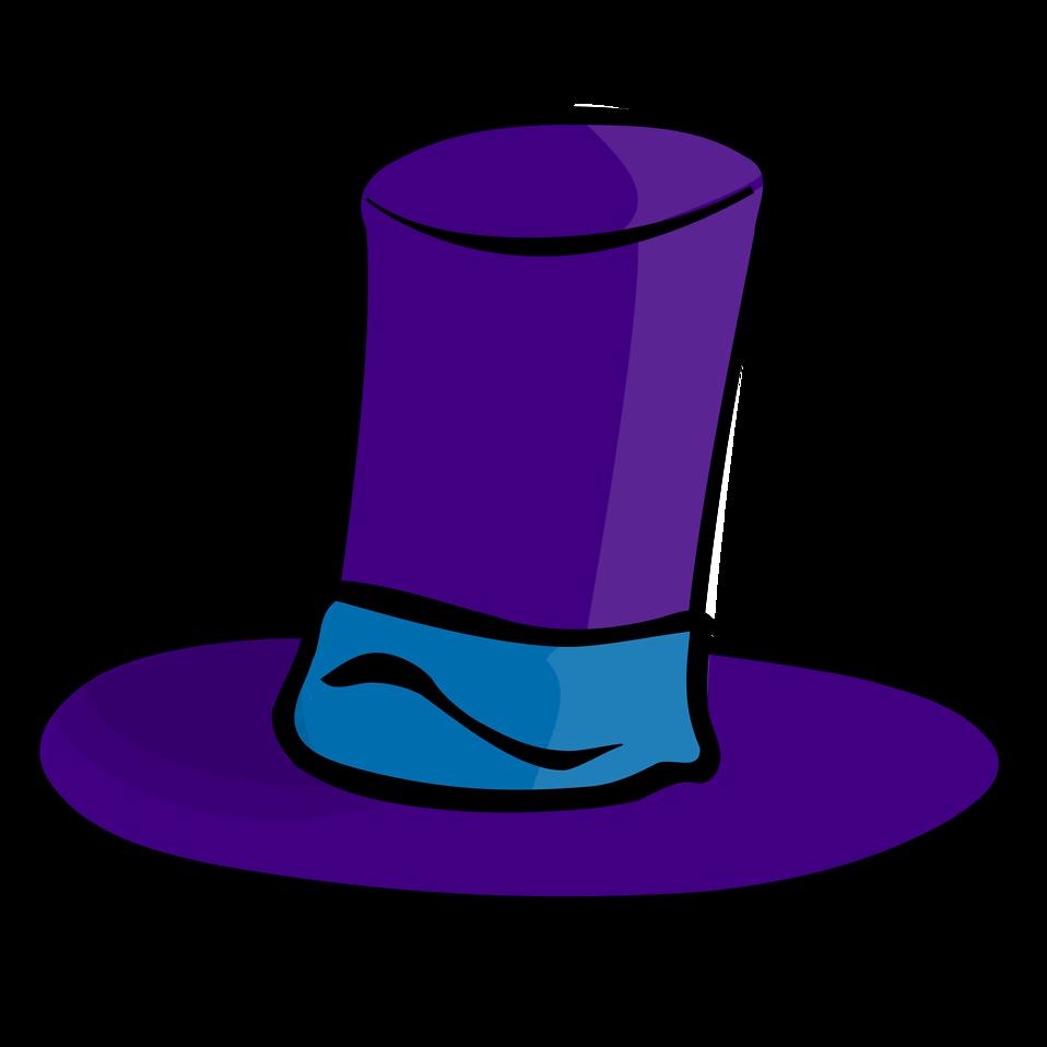 Hat clipart vector. Free stock photo illustration