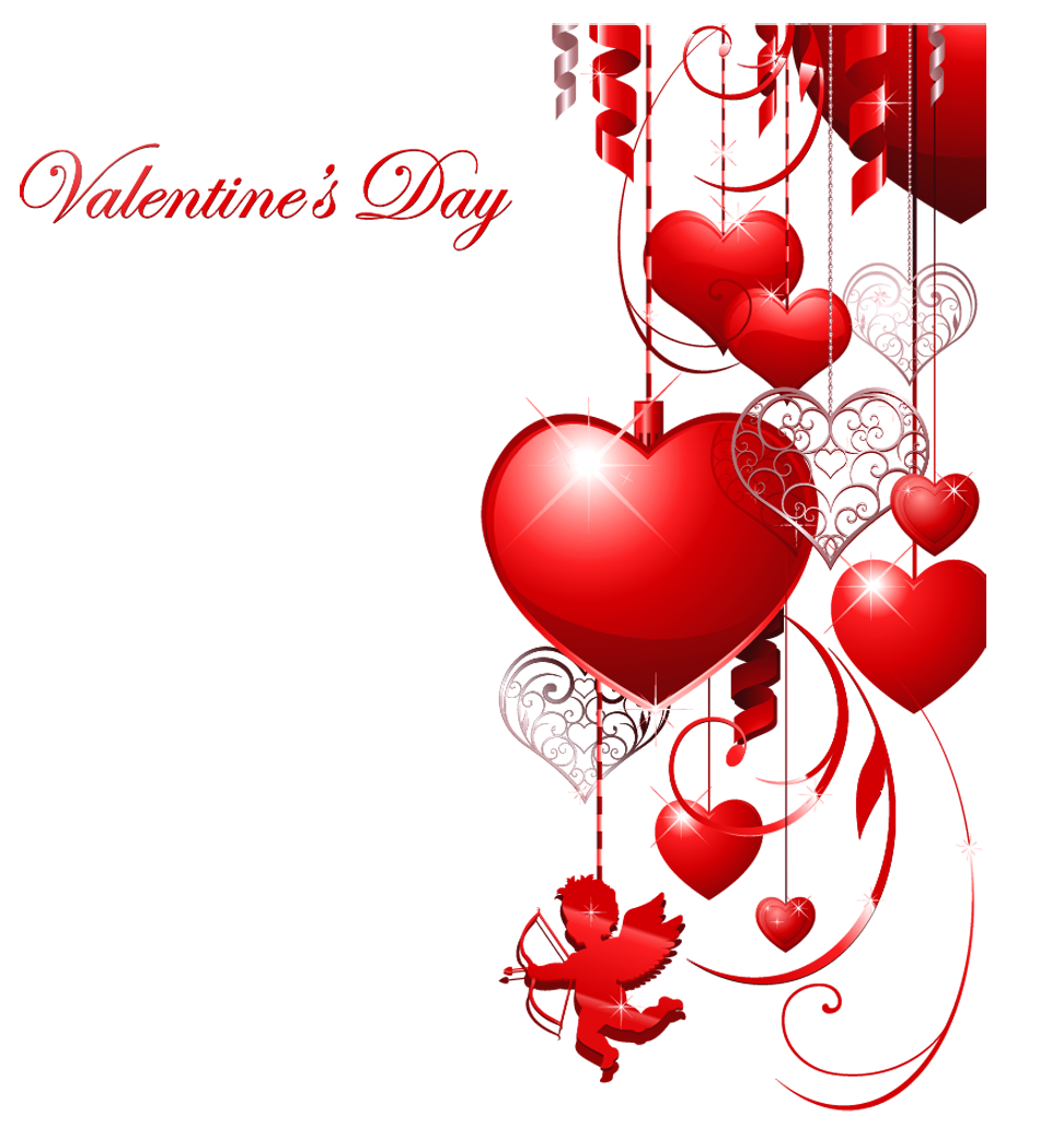 Valentines day decor with. Clipart present valentine