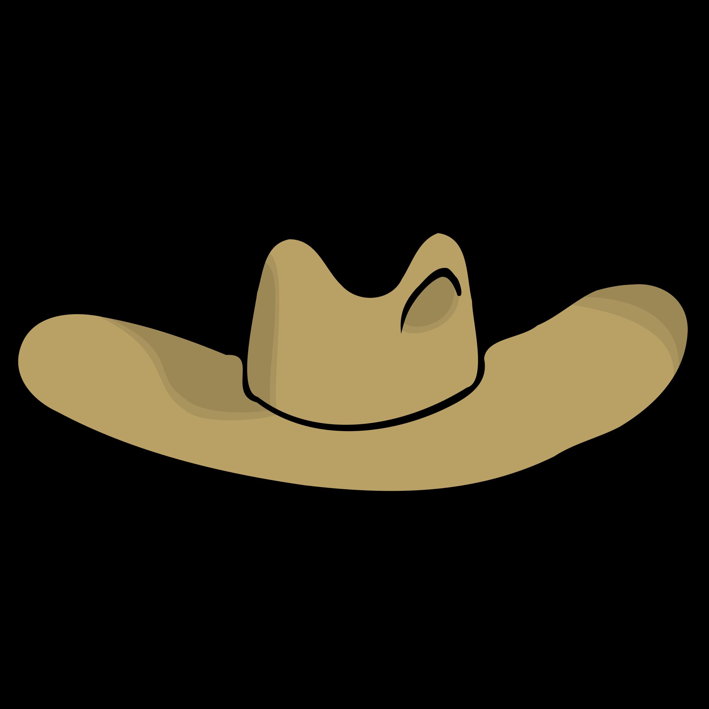 Cowboy clipart round cap. Hat cartoon