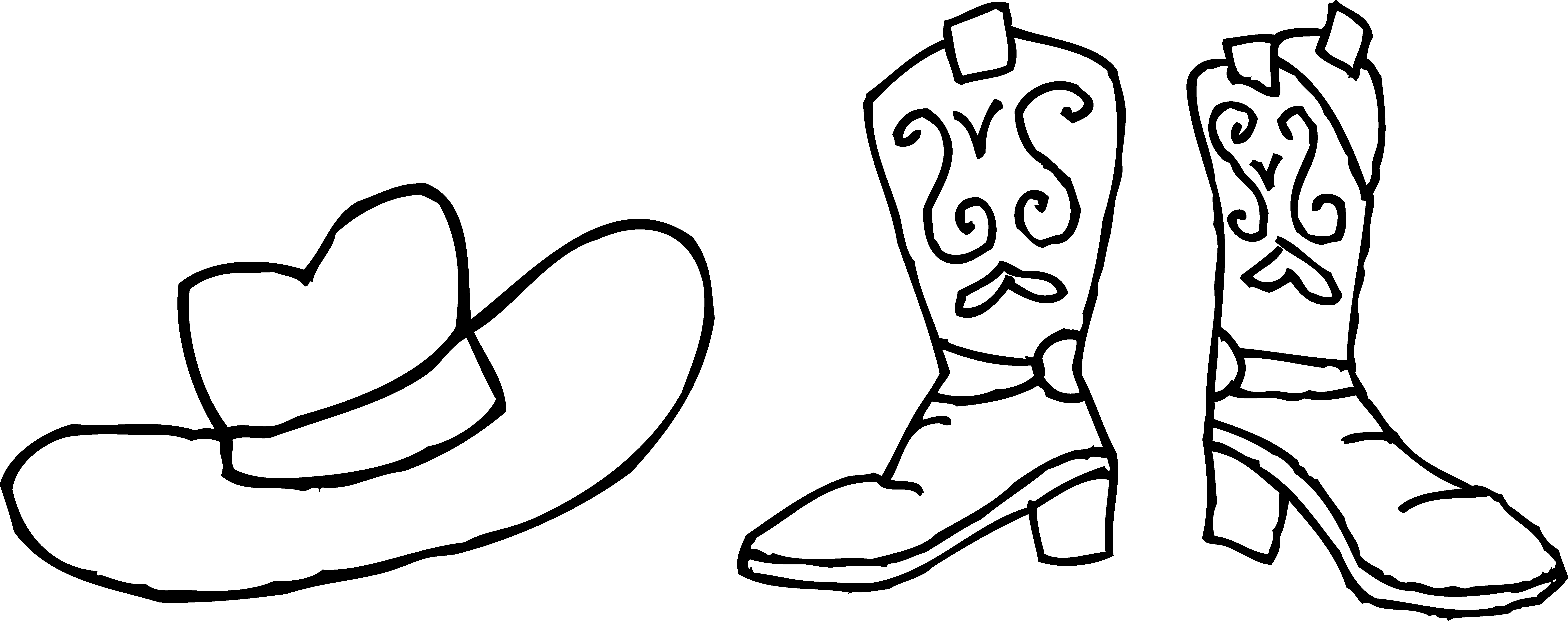 Hats clipart wild west. Cowboy hat and boots