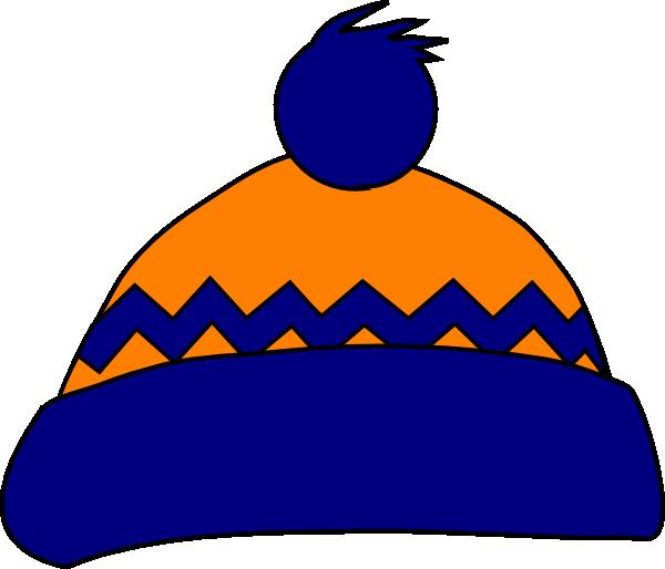 Winter clipart beanie. Orange navy stocking cap