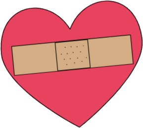 Clipart heart. Clip art images bandaged