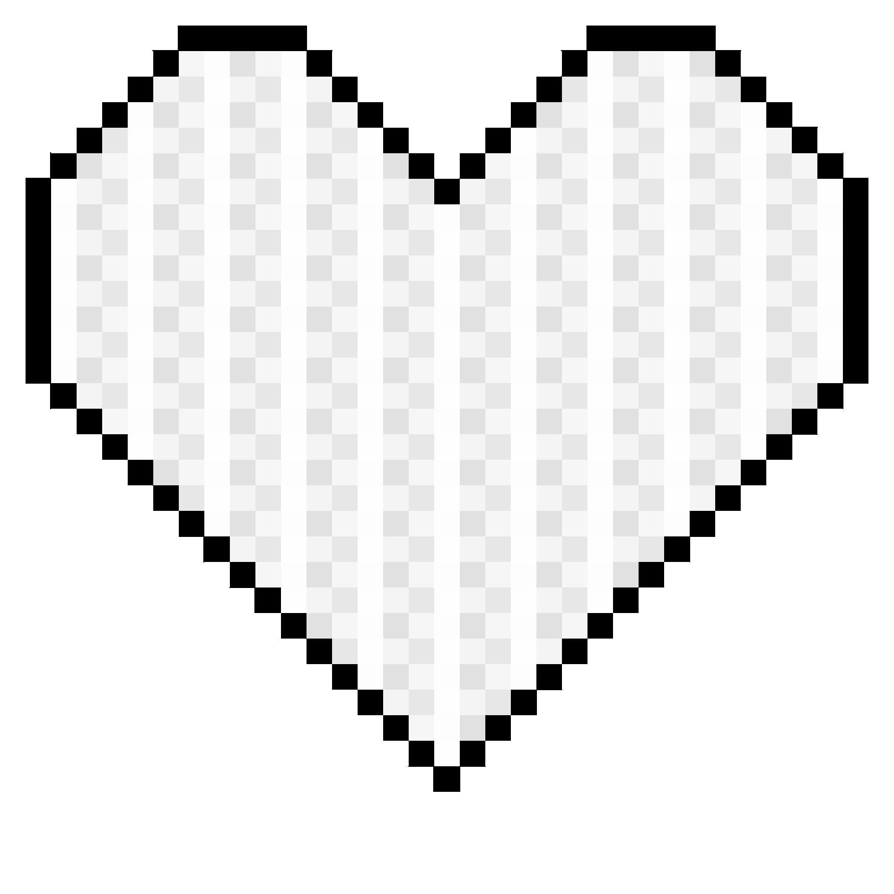 Pixel art . Clipart heart banner