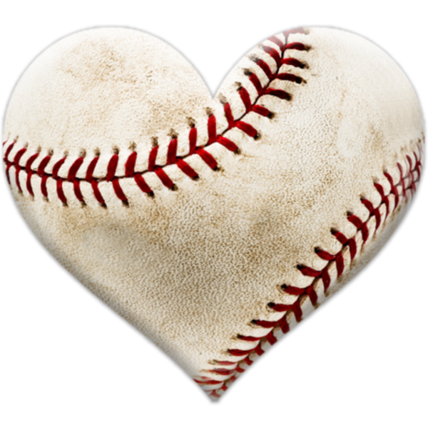 clipart heart baseball
