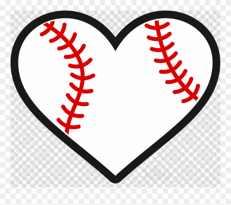 Baseball heart png . Hearts clipart softball