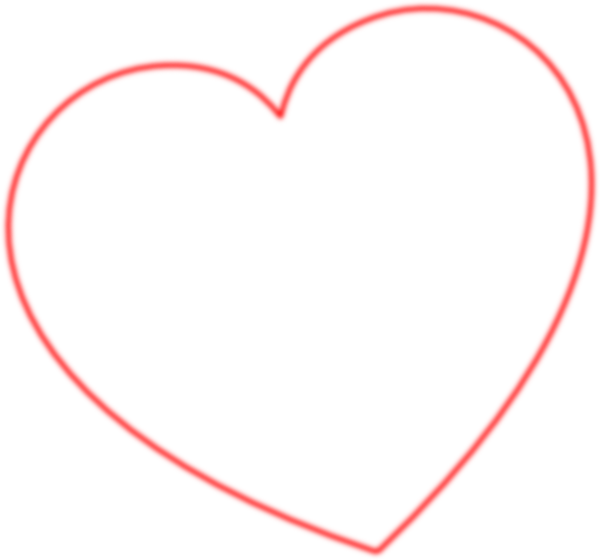 Hearts clipart bear. Red outline heart degree