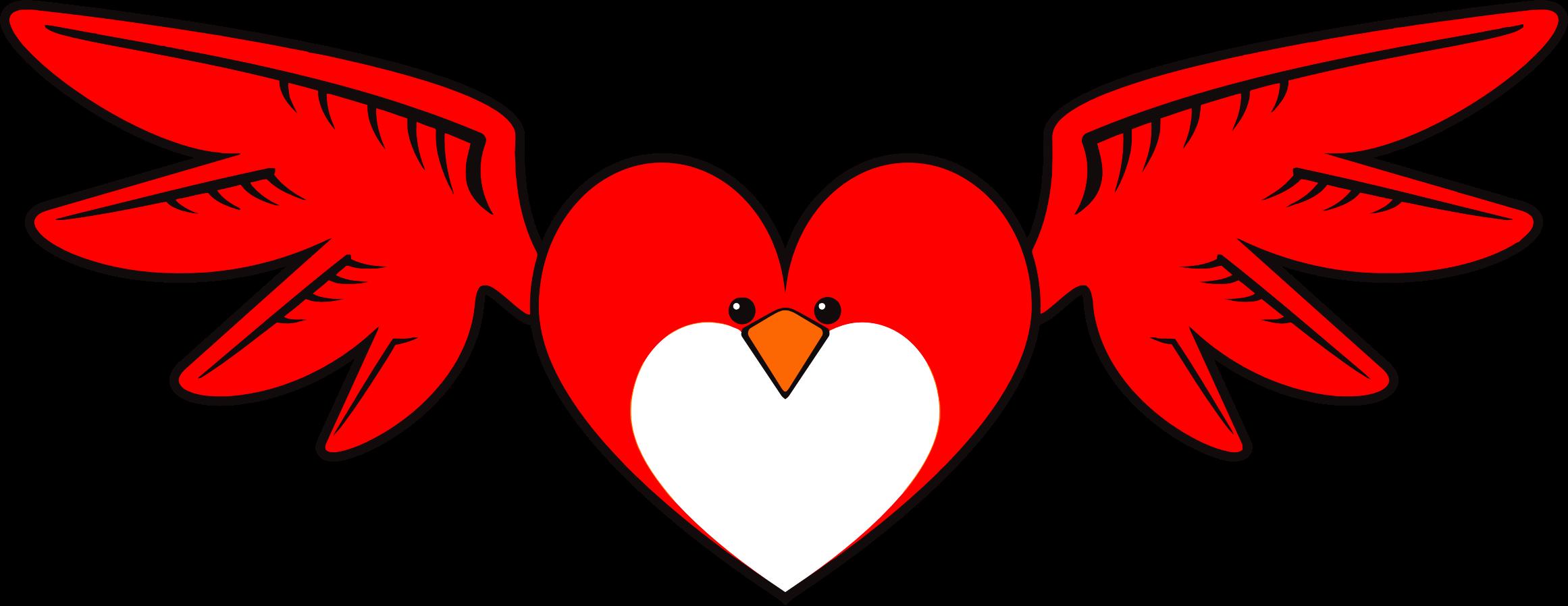 Heart clipart bird.