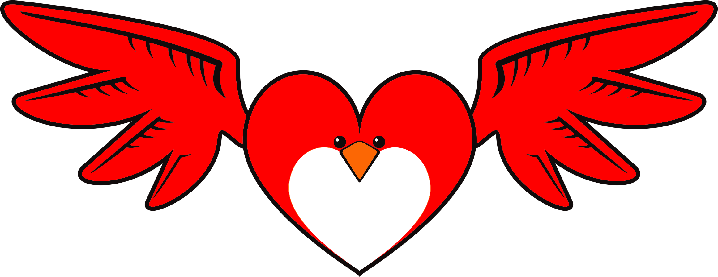 Heart. Hearts clipart bird