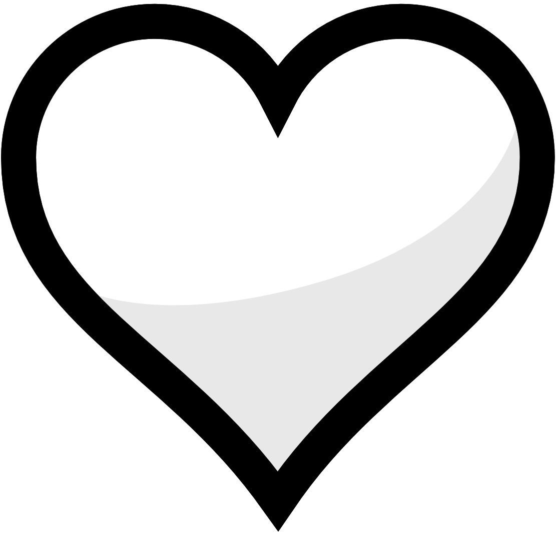 Heart black and white. Pear clipart roseapple