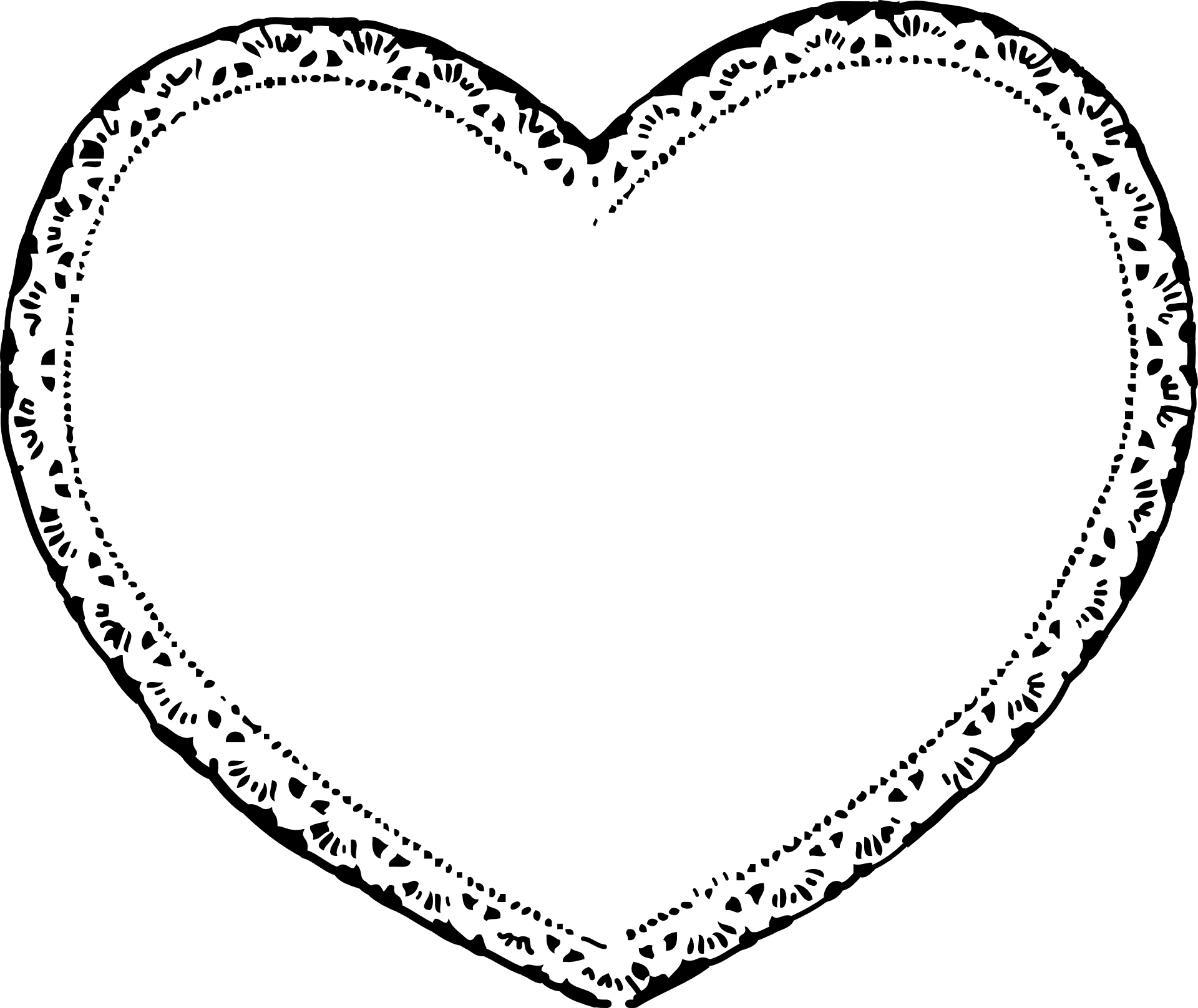 Square clipart black and white. Valentines day heart clip