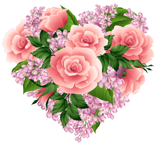 Floral png image gallery. Clipart heart bouquet