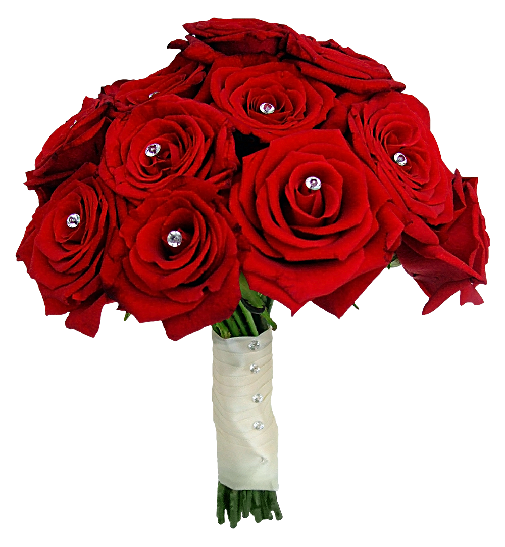 Red rose png image. Clipart heart bouquet