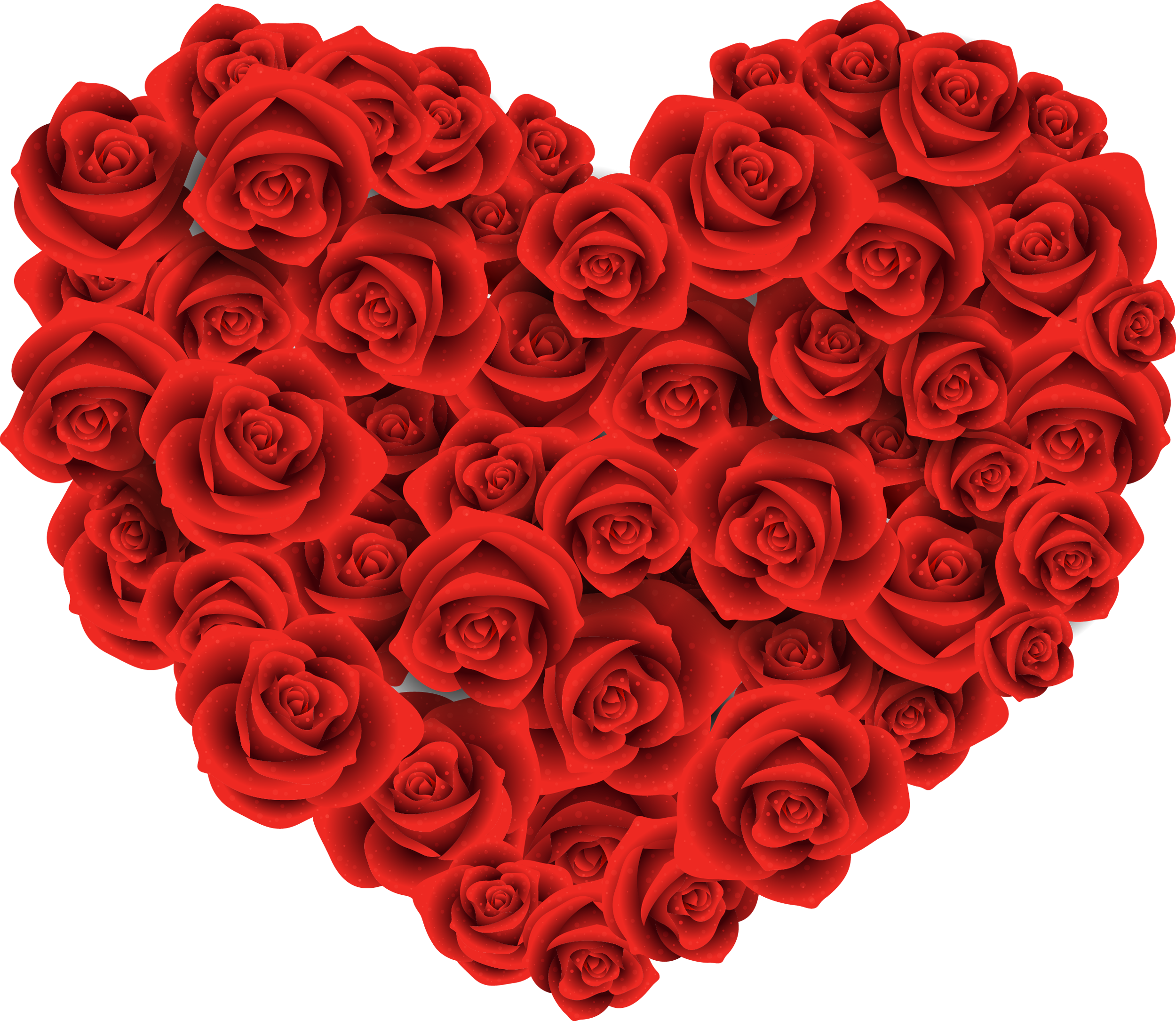 Clipart rose heart. Large of roses png