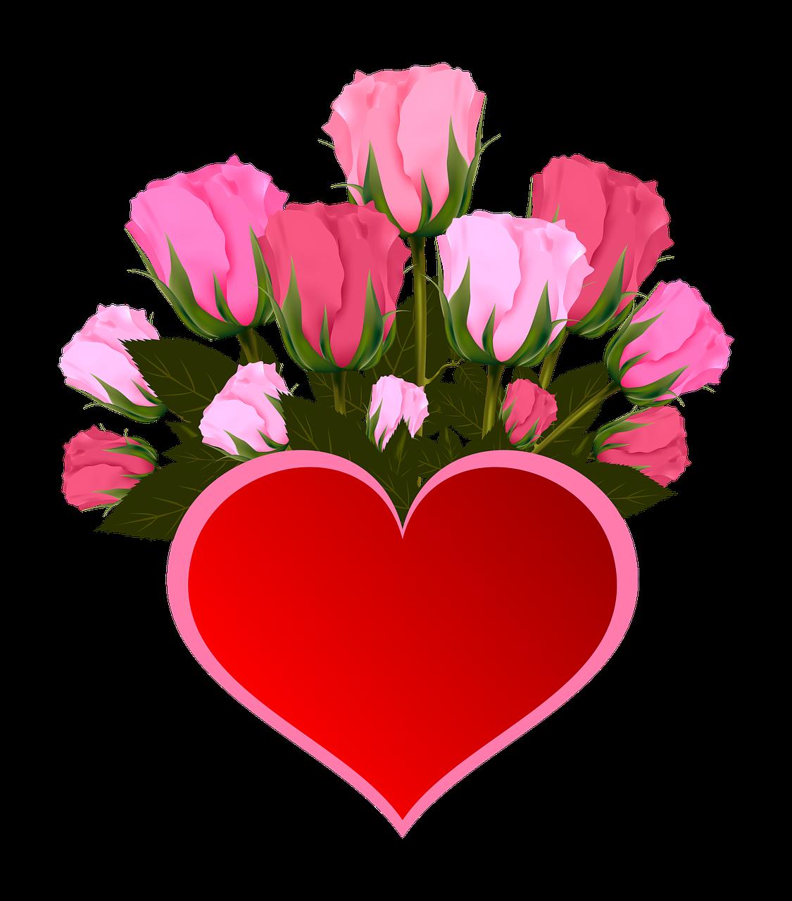 Gratis billede p pixabay. Heart clipart bouquet
