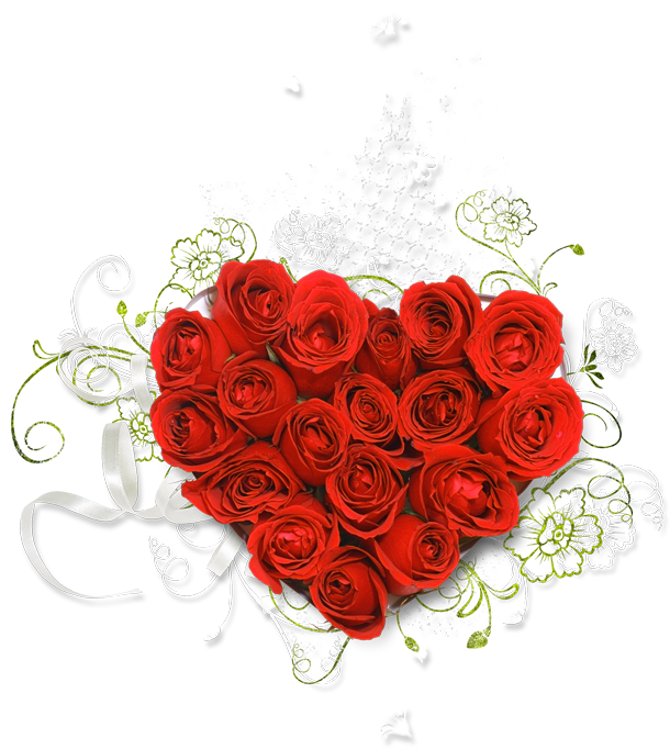 Heart clipart bouquet. Red of roses gallery