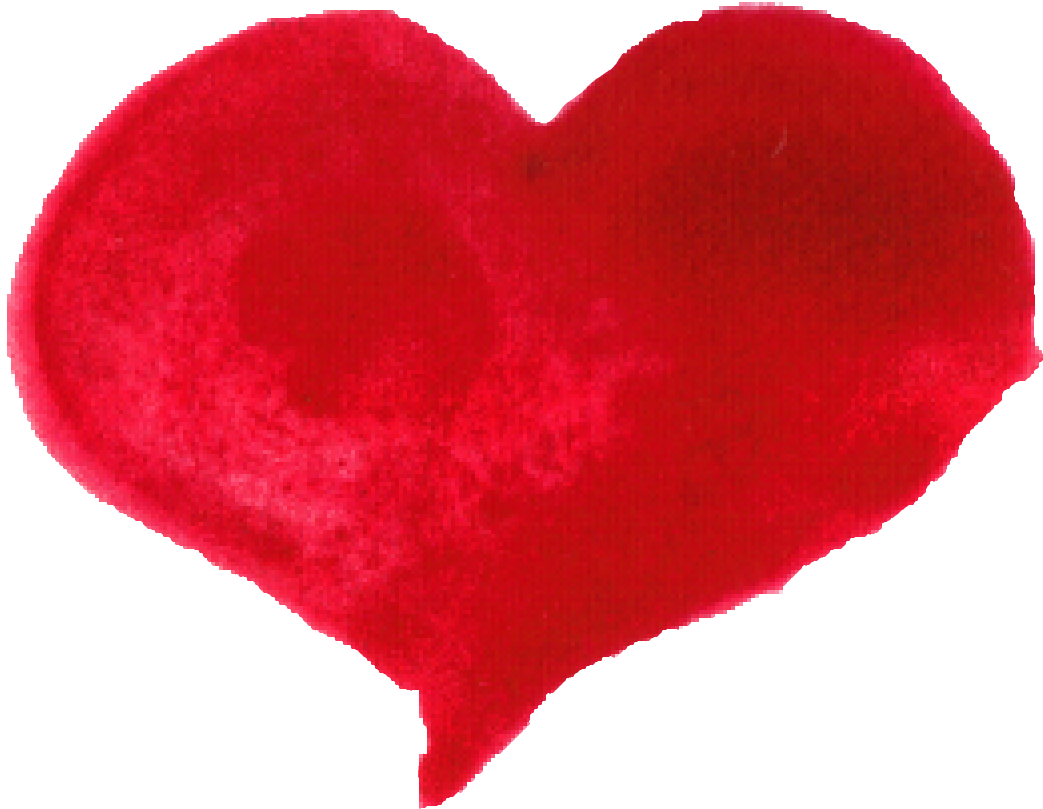 red heart png. Clipart hearts watercolor