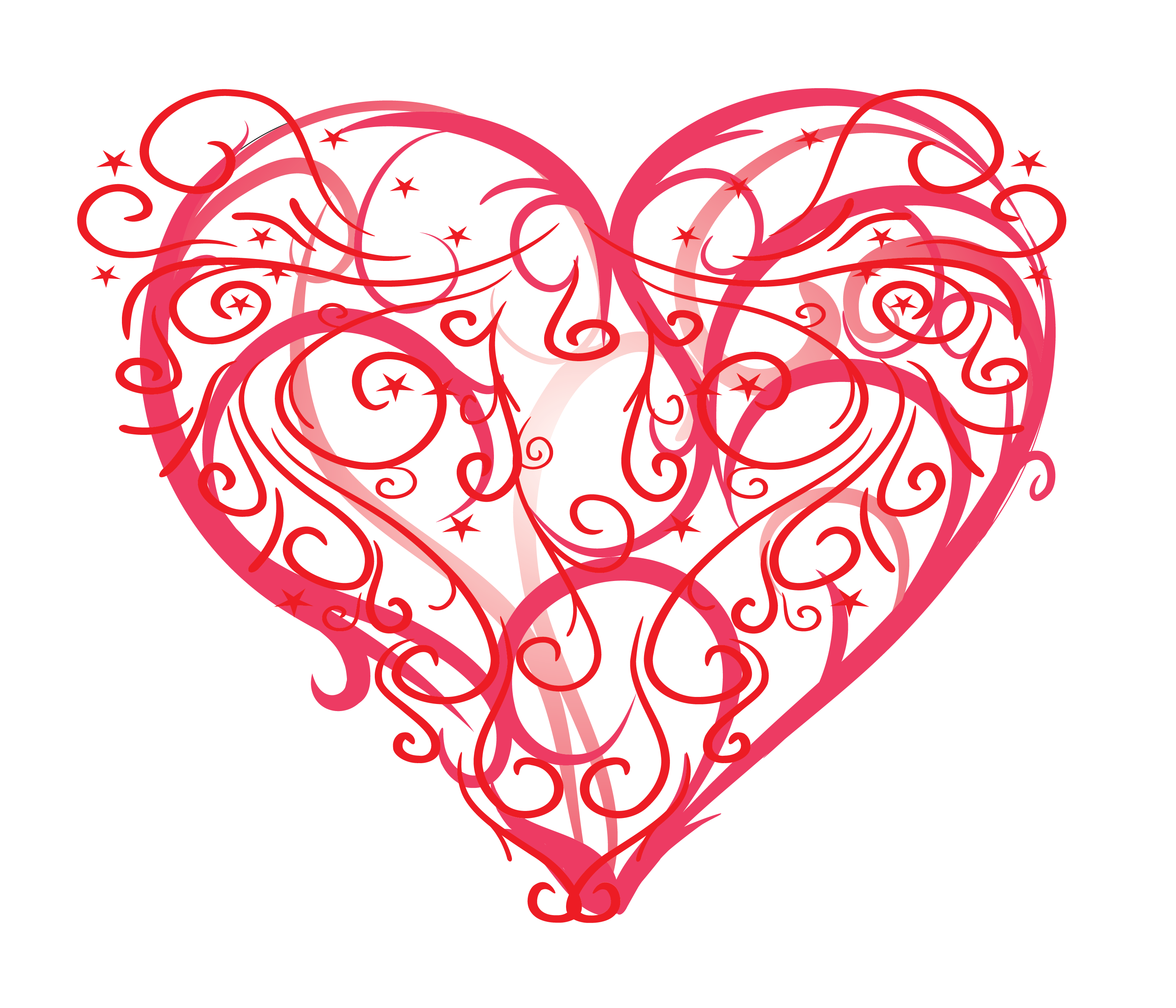 Hearts clipart brush stroke.  simple steps to