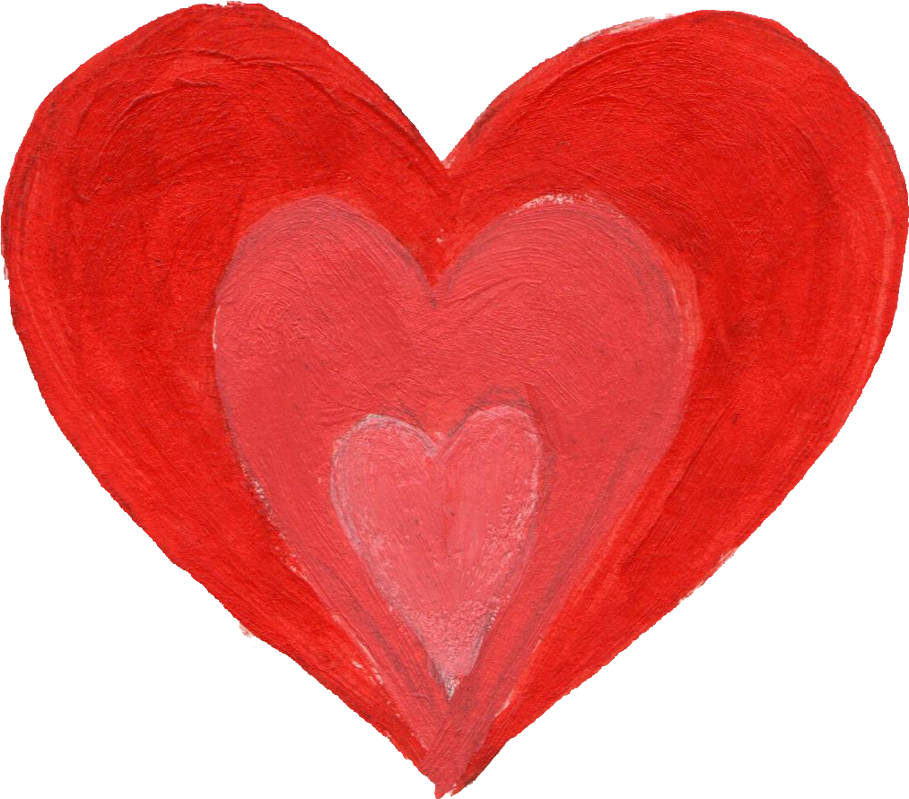 painted heart png. Hearts clipart crayon