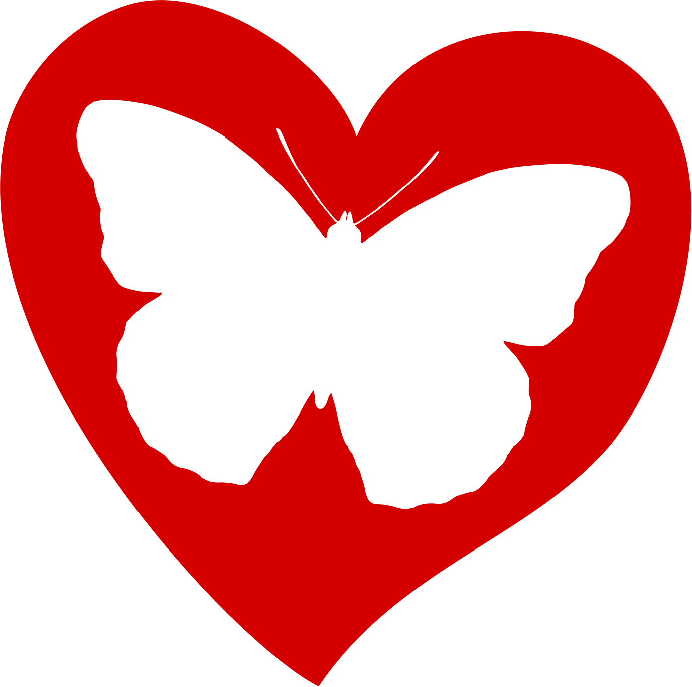 Heart pencil and in. Hearts clipart butterfly