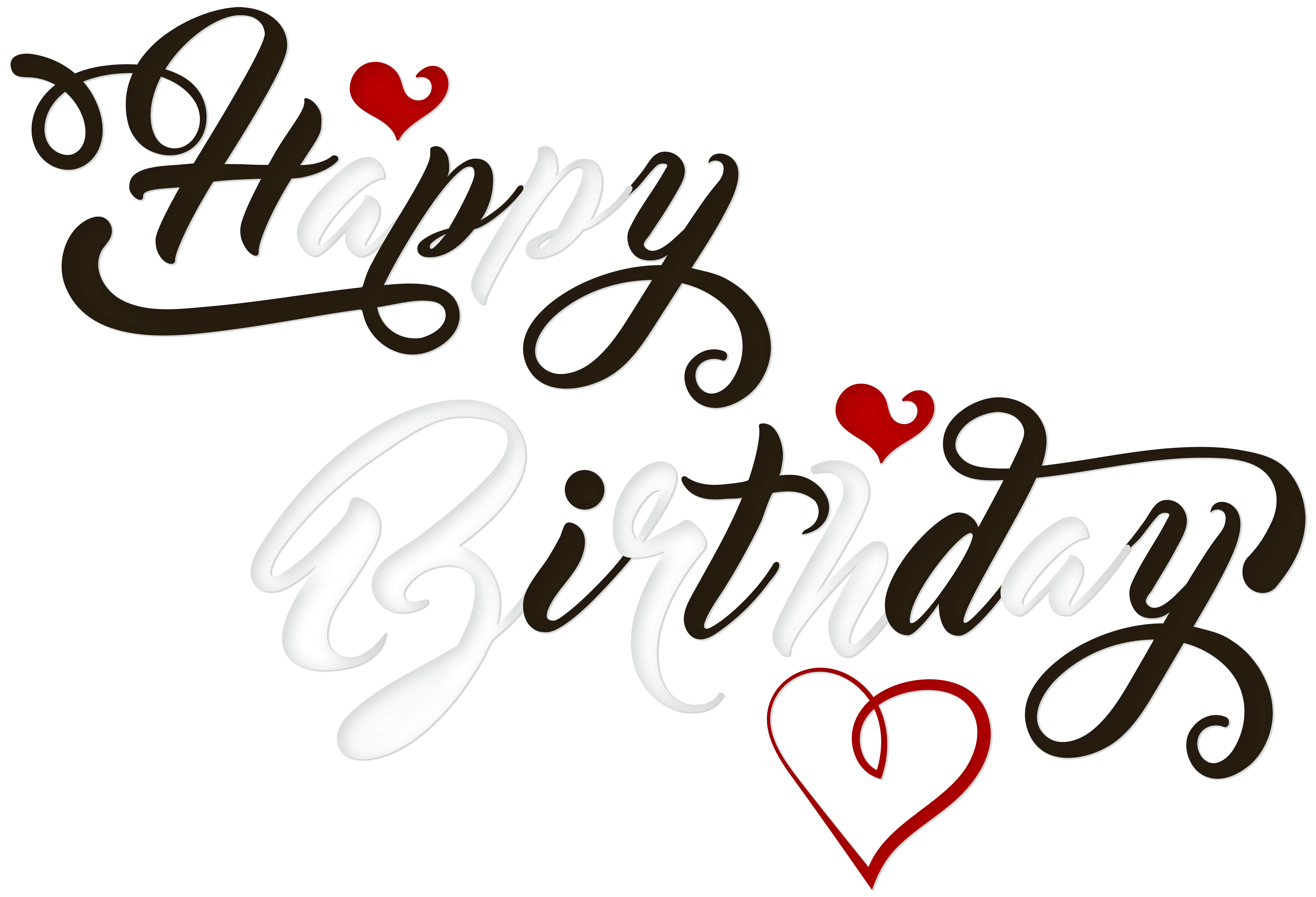 Birthday cake black and. Clipart heart calligraphy