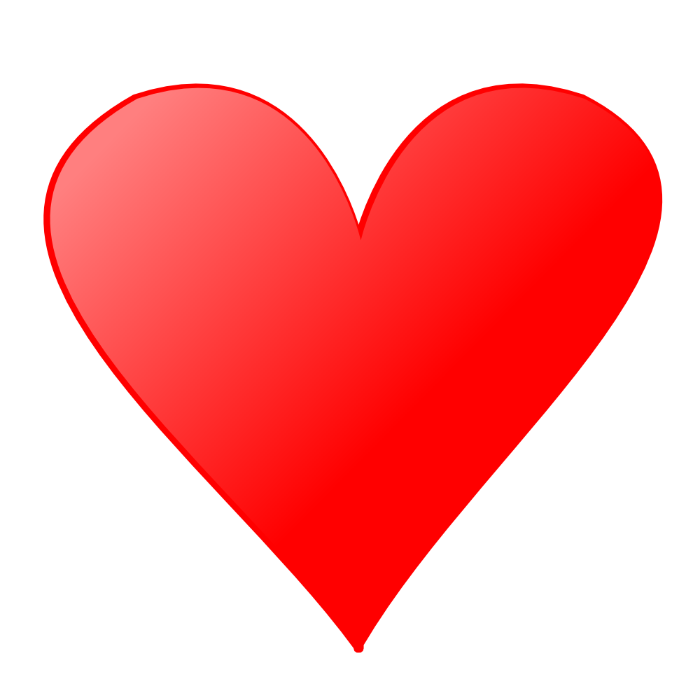 Heart face card . Kind clipart kind hearted