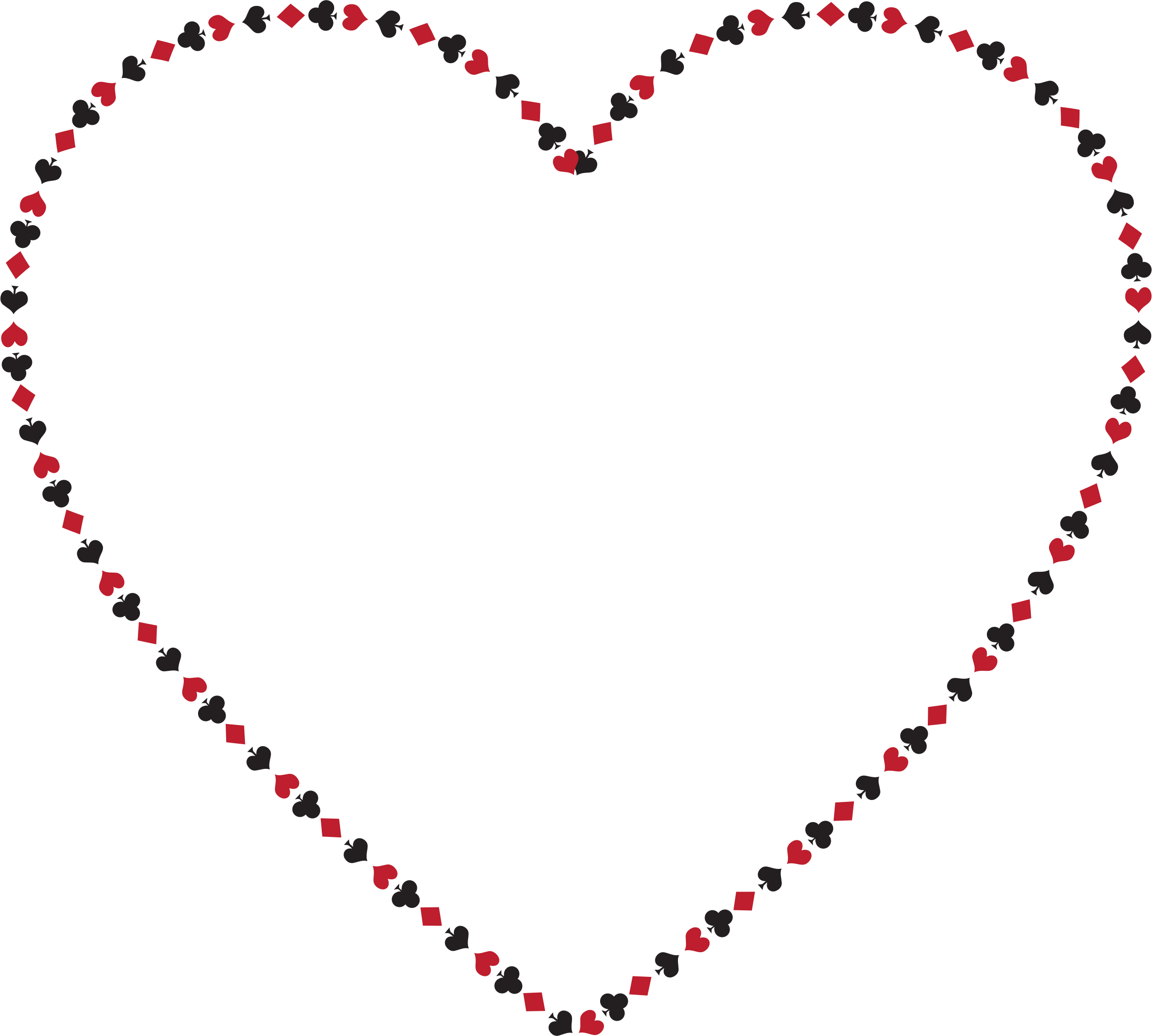 Hearts clipart card. Suits heart big image