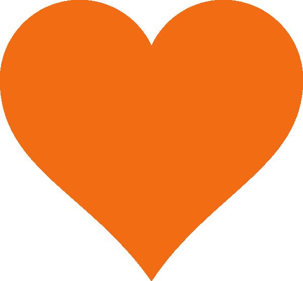Heart clip art at. Hearts clipart orange