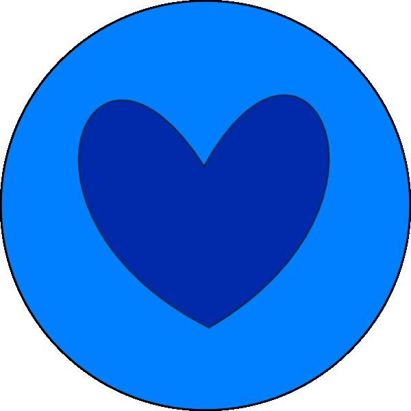 Heart clipart circle. In blue clip art