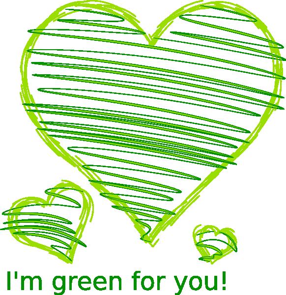 Heart drawing clip art. Green clipart crayon