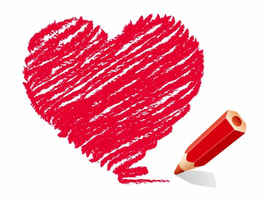 Heart clipart crayon. Corazon png transparent download