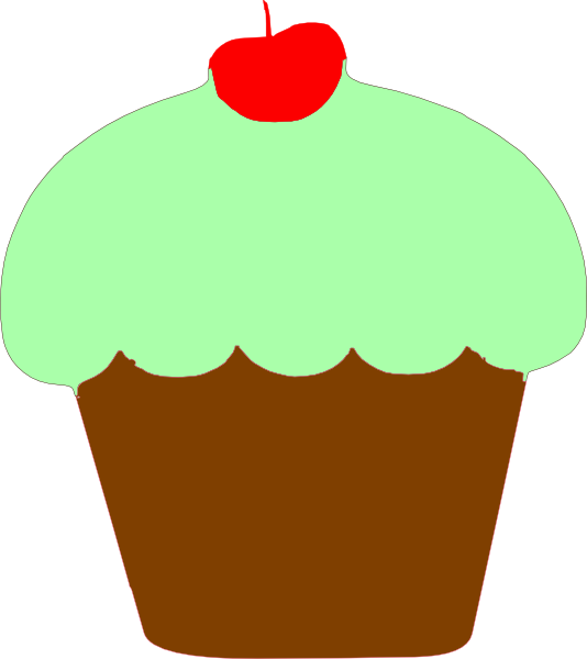 Mint clip art at. Clipart heart cupcake