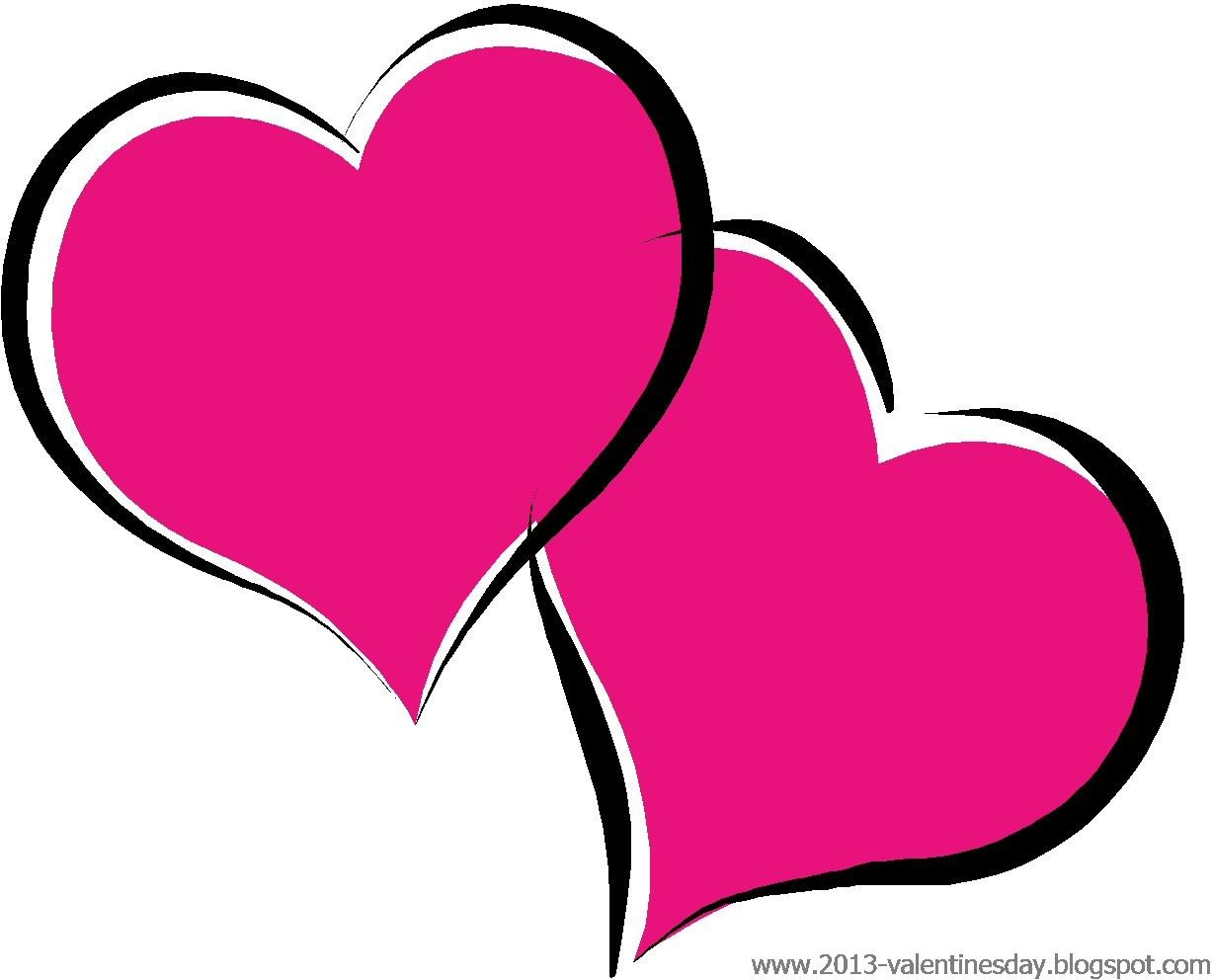 Hearts clipart cute. Black and white valentine