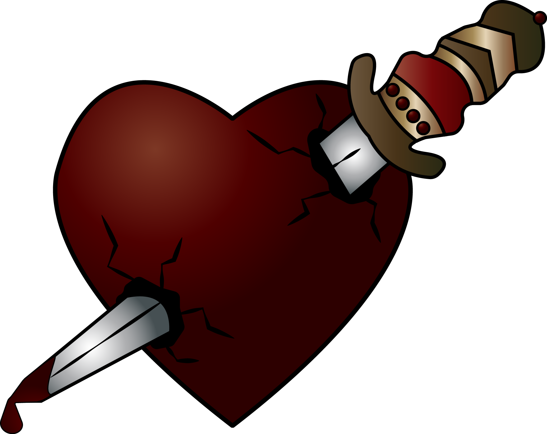 Romeo juliet poster project. Clipart heart dagger