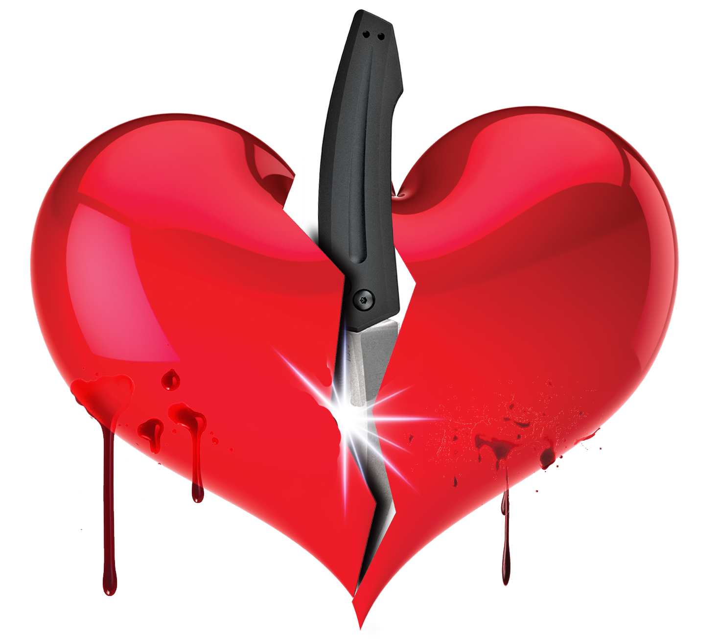 Realistic Knife In The Heart Drawing: Clipart Hearts Free Download On WebStockReview
