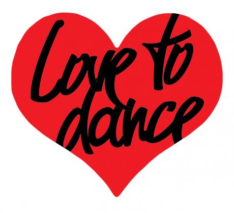 I love dancing logos. Dance clipart heart