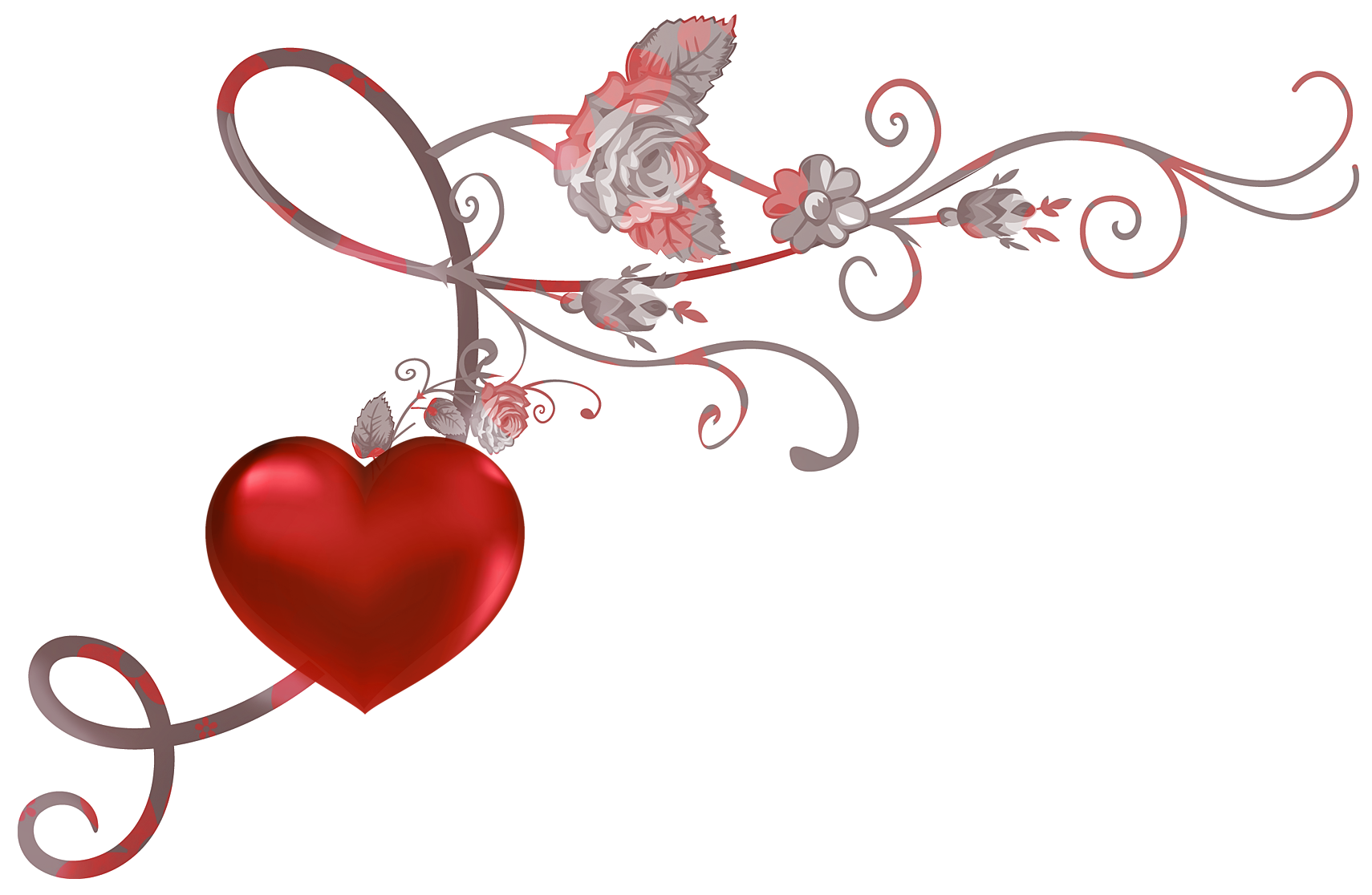 Heart clipart decoration. Red decor png picture