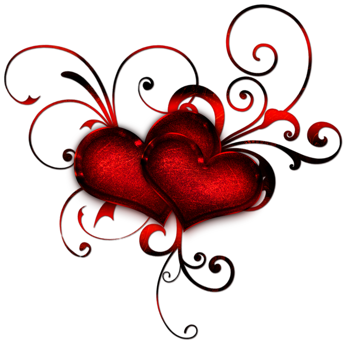 Clipart hearts decoration. Red heart deacoration png