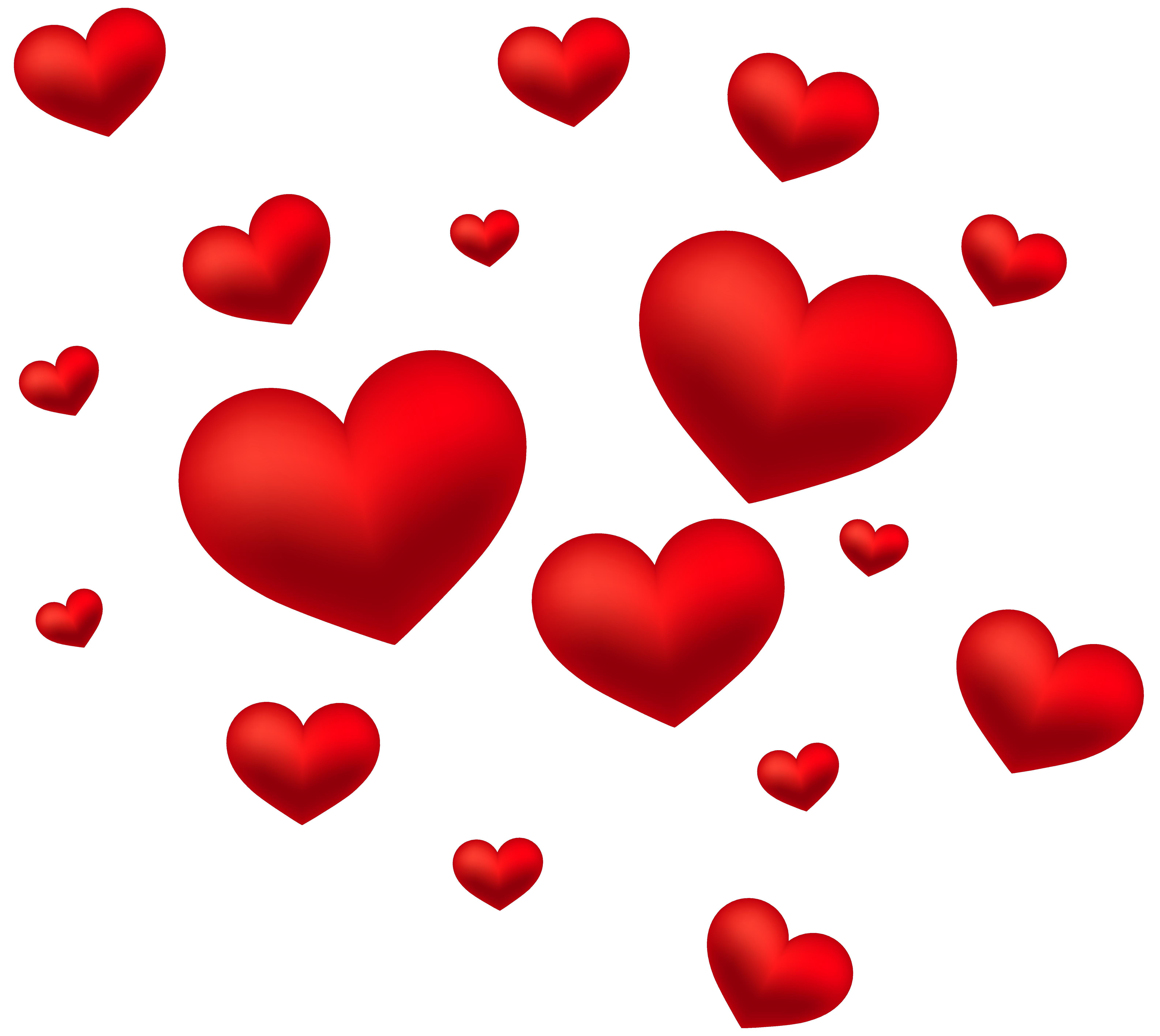 Hearts transparent png. Decoration clip art image