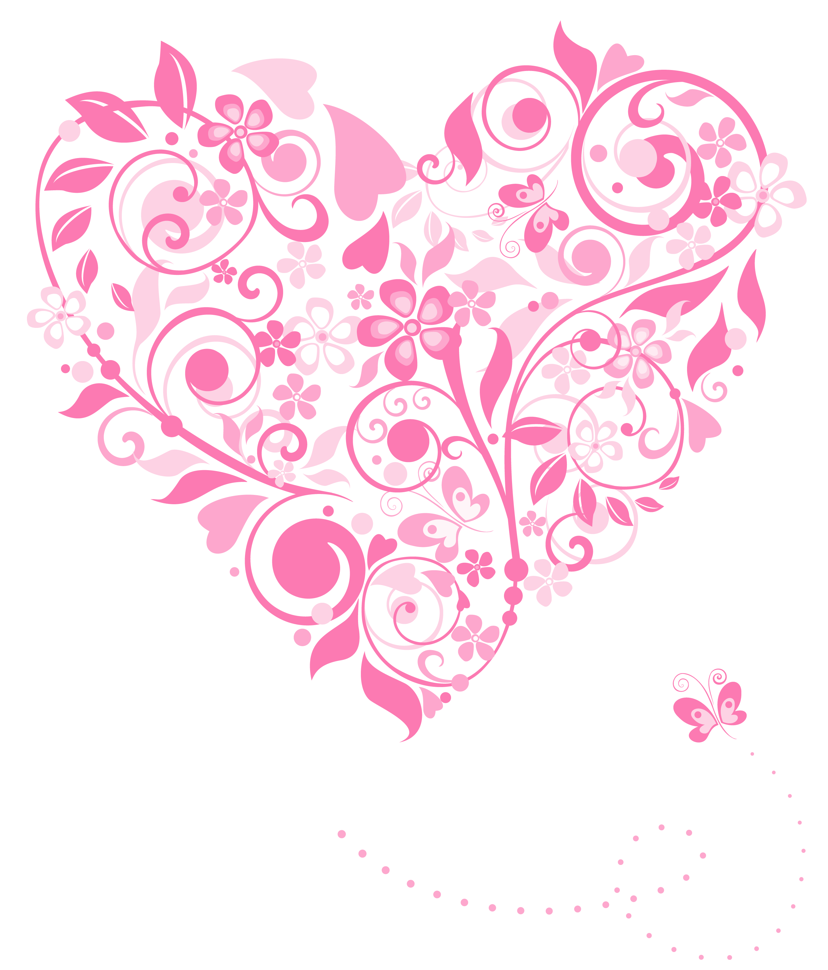 Clipart hearts decoration. Transparent pink heart png