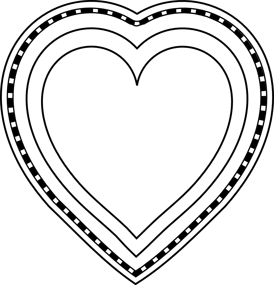 Free decorative hearts cliparts. Heart clipart decoration