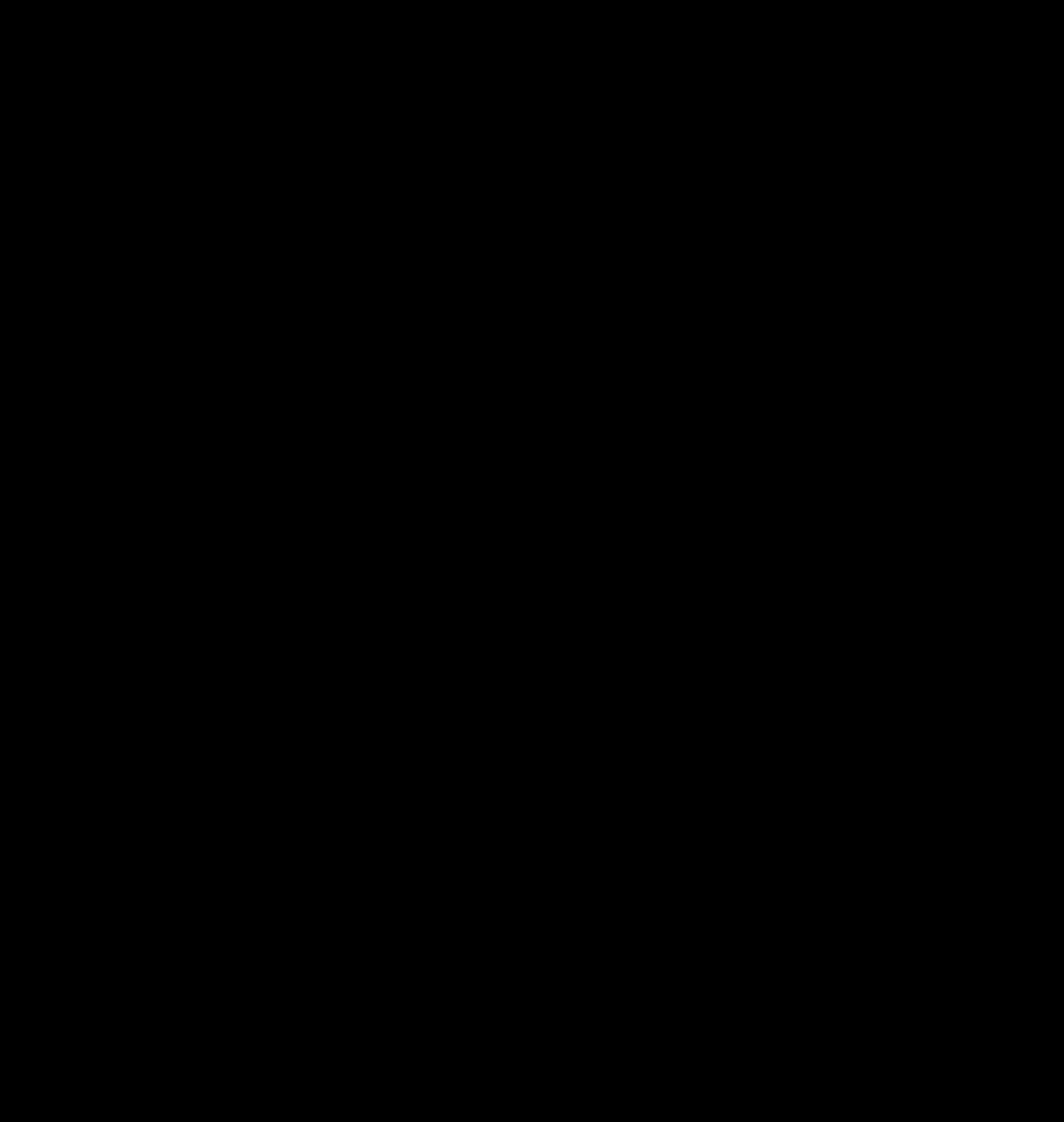Floral silhouette big image. Clipart heart design