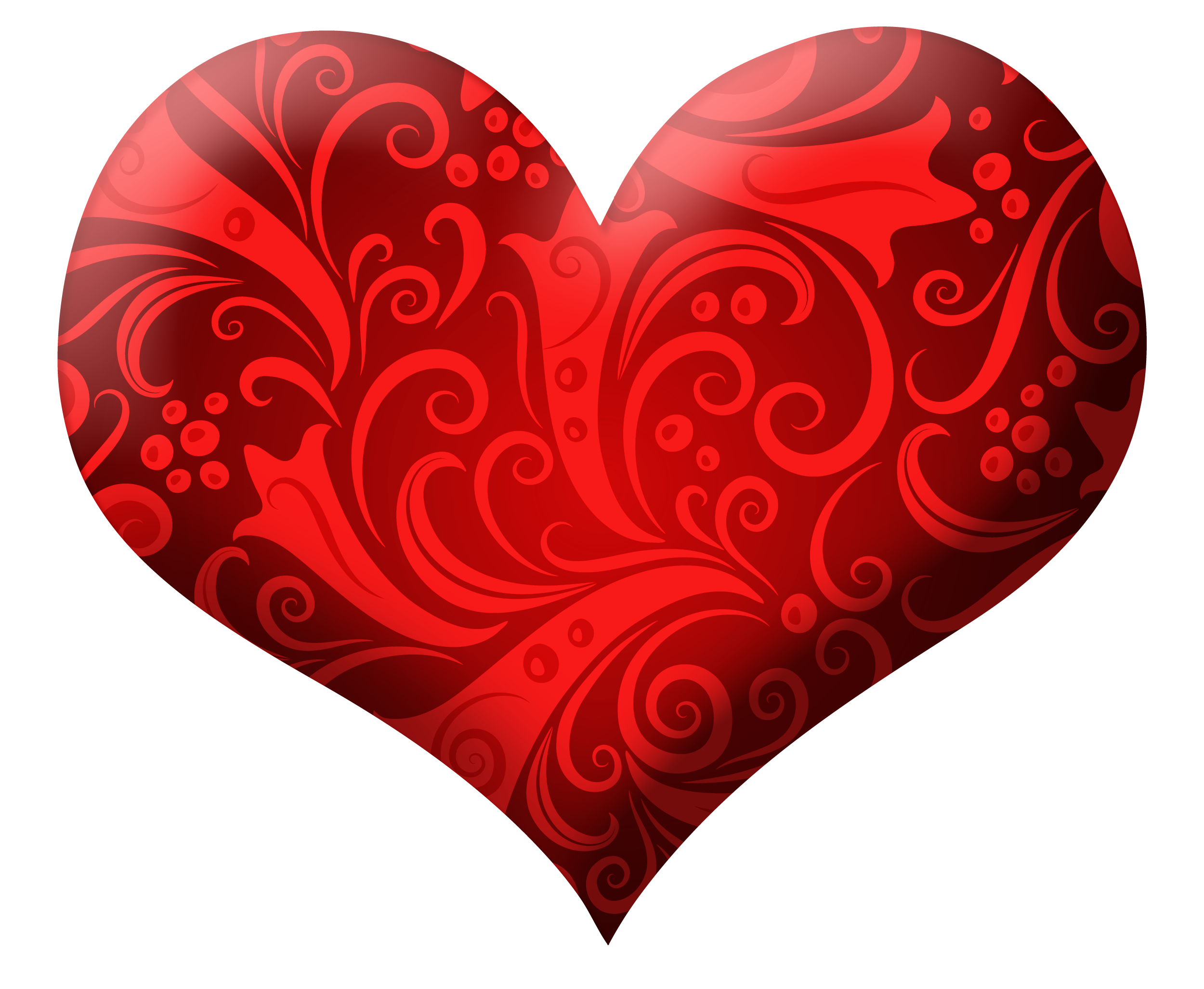 Hearts clipart design. Red heart with ornaments