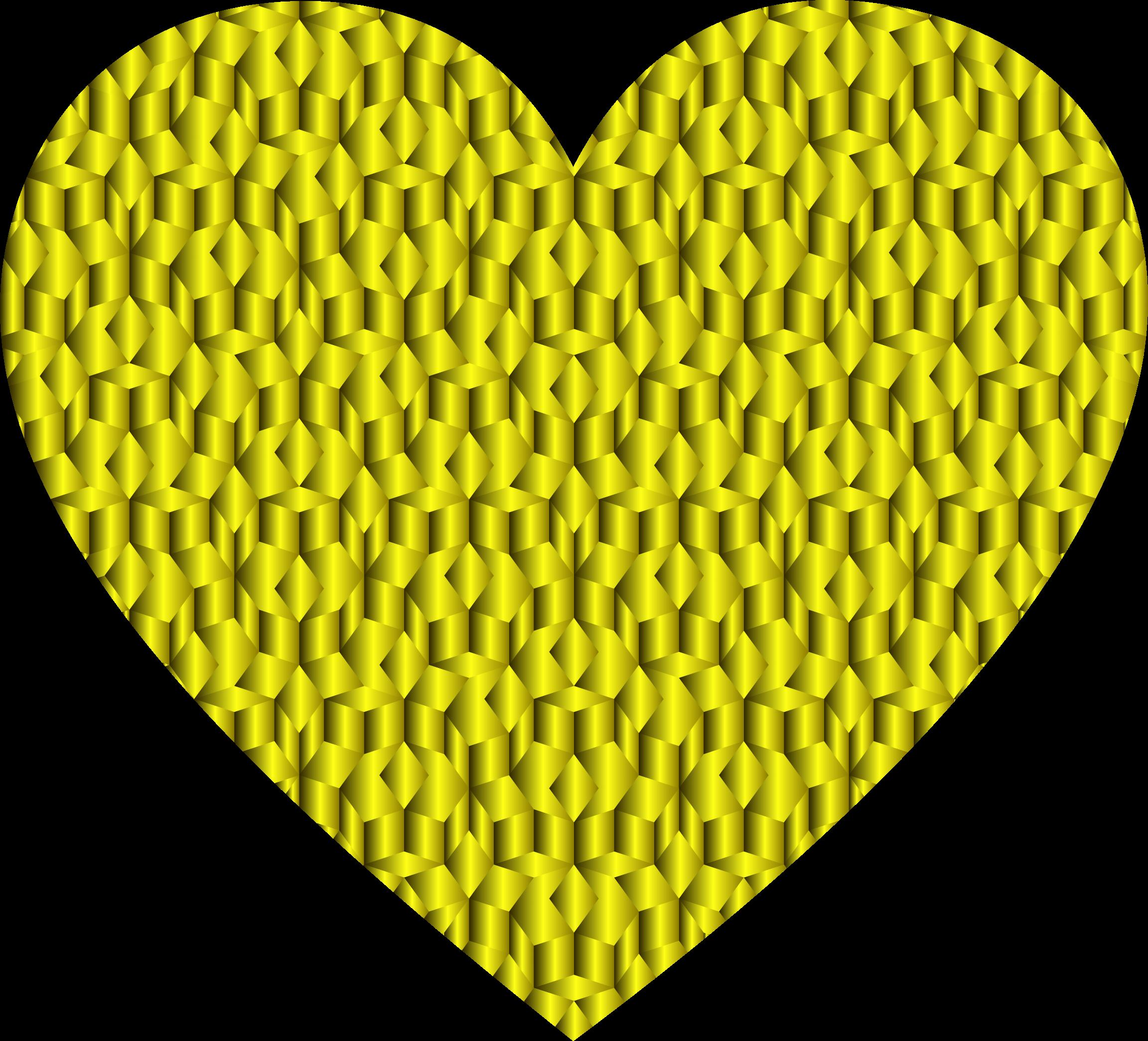 Clipart heart doily. Prismatic penrose variation big