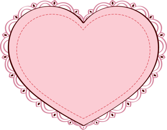 free clip art. Clipart heart doily