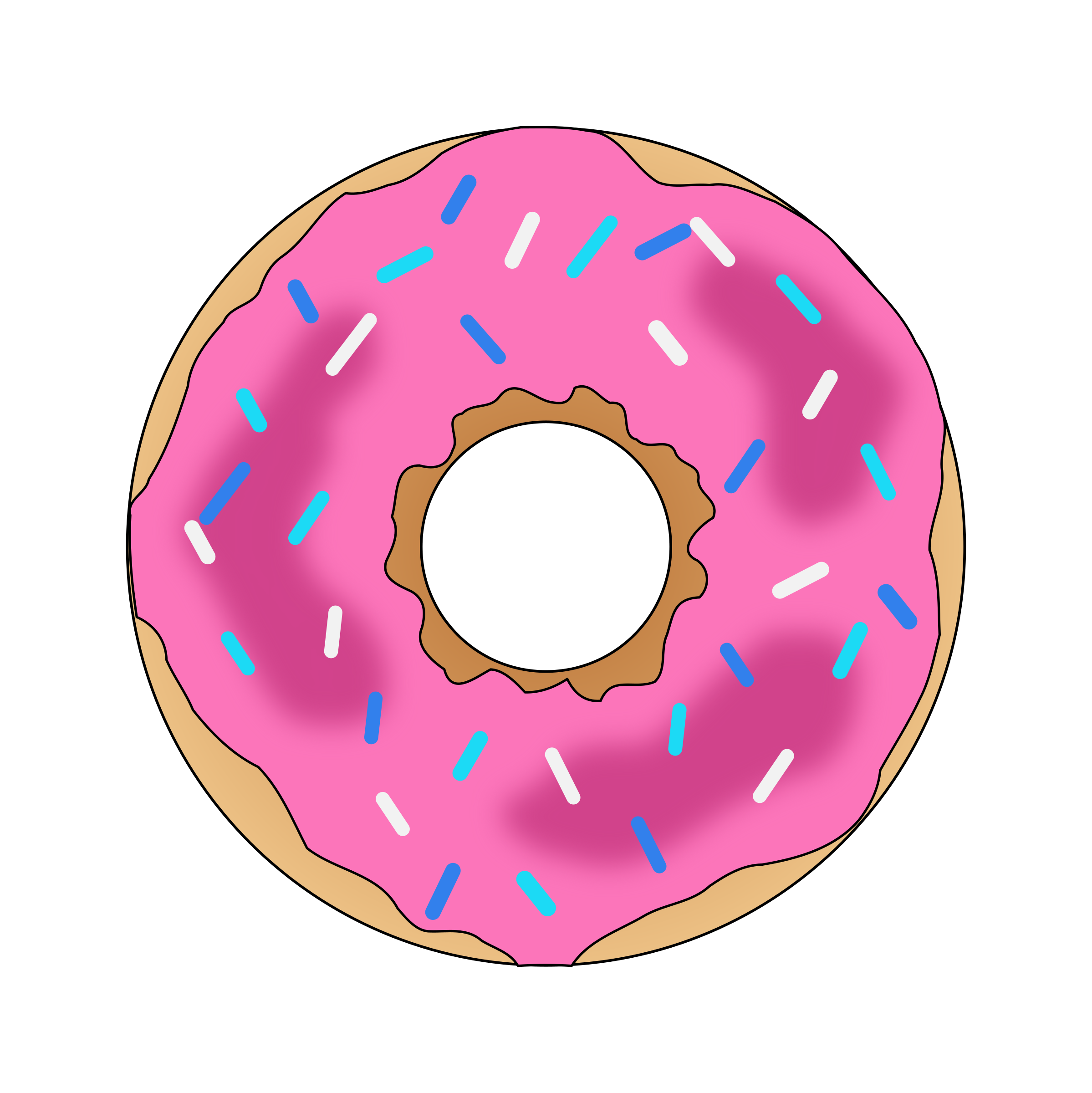 Youtube clipart pink. Heart donut free on