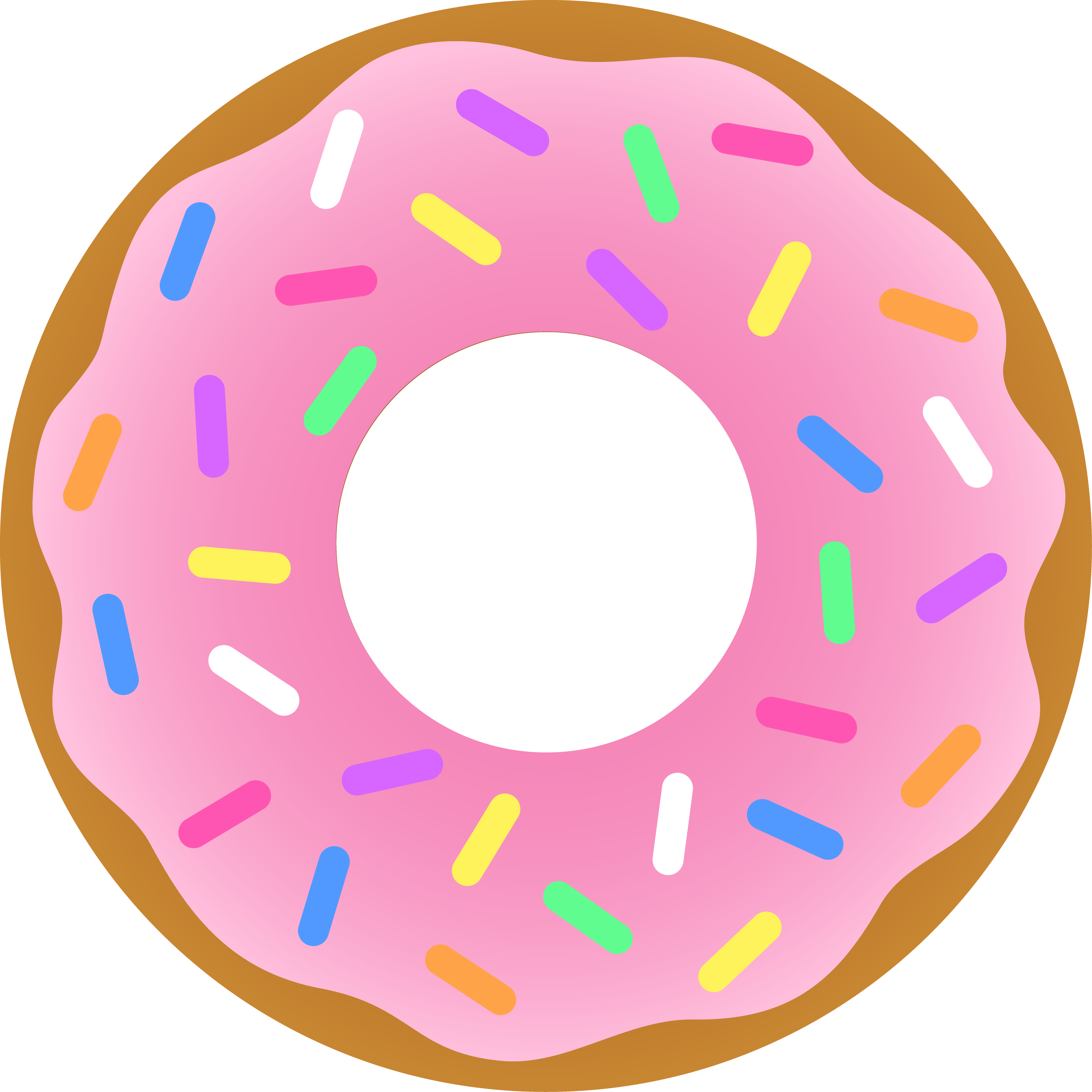 Heart clipart donut. Pink free image
